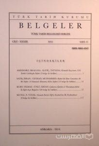 BELGELER, TURK TARIH BELGELERI DERGISI, XXXIII, 2012, Sayi 37, چاپ ترکیه, (MZ2314)