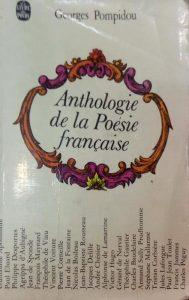 anthologie de la Poesie francaise, Georges Pompidou, کمی رطوبت دیده, (HZ1287P)